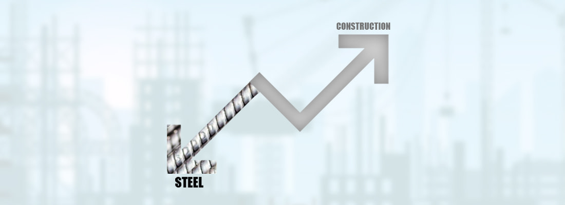 CONSTRUCTION SECTOR TO BOOM MORE AS STEEL PRICES DECLINE