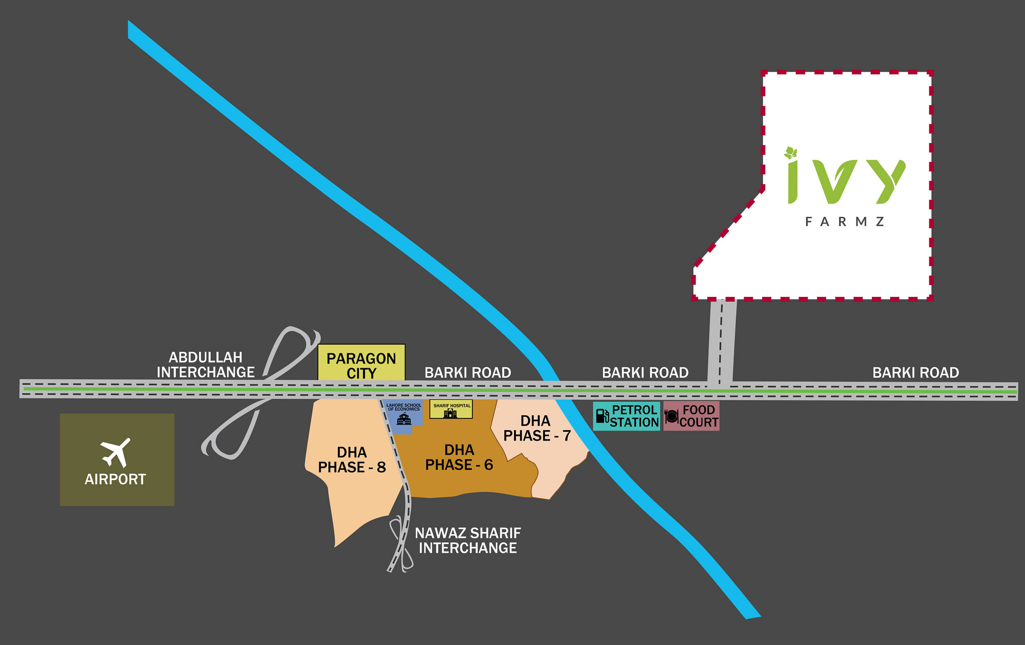IVY Farms location-map